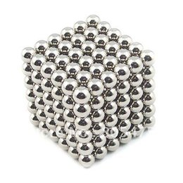 Wholesale mm Silver Magic Puzzle Magnetic Sphere Balls Toy Neodymium Magnet DIY Creative Birthday Present Adult Kids Gift