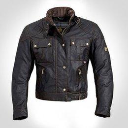 2017 chaquetas de los hombres de cera Chaqueta de la chaqueta de la chaqueta de la motocicleta de la chaqueta del hombre del mcqueen de Wholesale-steve prendas de vestir exteriores de la cera de calidad superior La chaqueta del roadmaster chaquetas de los hombres de cera en venta