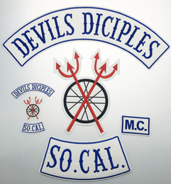 "Full BACK LARGE SIZE DEVILS SICIPLES SETS Motorcycle Biker Patch IRON ON SEW ON JACKET VEST 18"" PATCH FREE SHIPPING"