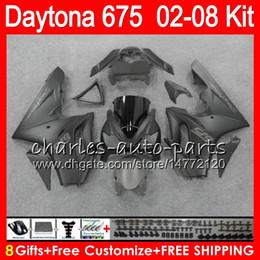 8 Gifts 23 Colors For Triumph Daytona 675 02 03 04 05 06 07 08 Daytona675 4HM25 matte Daytona 675 2002 2003 2004 2005 2006 2007 2008 Fairing