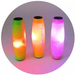 Mokuru LED Light Fidget Stick Rollver The Amazing Desktop Flip Toy Novelty Adults Decompression Anxiety Toys Finger Fidget Spinner
