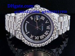 Wholesale 2017 High quality AAA Mens II k MM President White Gold Diamond Watch