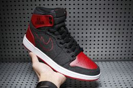 Wholesale With shoes Box High Quality Retro I Dark Sea Wool Red Men Basketball Airs Sport Sneakers Shoes