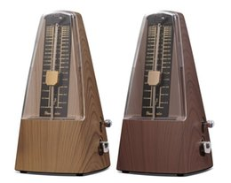 Wholesale Plastic Pyramid traditional Music Mechanical Metronome mahogany oak color Music Metronomes Piano Violin Guitar Music Instrument
