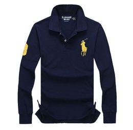 2017 Paul new POLO shirt, men's long sleeve lapel, XL, loose cotton, casual business T-shirt, autumn outfit
