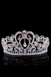 Bling Beaded Crystals Wedding Crowns 2017 Bridal Diamond Jewelry Rhinestone Headband Hair Crown Accessories Party Tiara Cheap CPA791