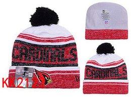 Wholesale free ship New winter Hot Cardinals Football Pom Arizona Beanies Football Beanies Knit Beanie Hats Warm Winter Caps Sports Team Hats