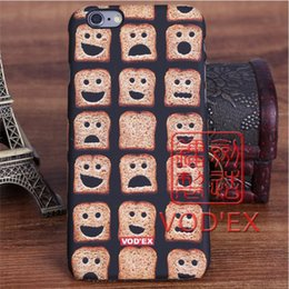 Wholesale Vodex cases cute smile bread lovely apple water paste mobile phone shell embossed D feel iPhone7 p p