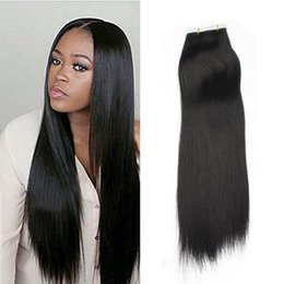 Big Seal remy human hair extensions 20pcs PU skin weft Silky Straight tape in Indian Remy hair extensions free shipping multi color
