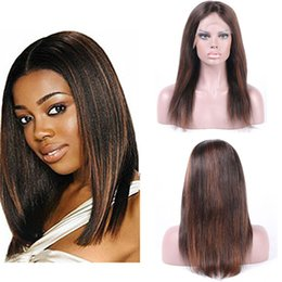 Human Hair Full Lace Wigs Brazilian Virgin Glueless Silky Straight Hair Wigs with Baby Hair for Black Women Highlight Color 6-24 Inch