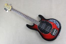 2017 hombre de raya de música Venta al por mayor-fábrica al por mayor stingRay hombre 4 cuerdas de guitarra eléctrica roja baja con 9V baterías activas pickups -149-30 barato hombre de raya de música