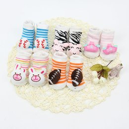 5 Color Infant Cotton Socks 0-6M Good Elasticity The Four Seasons Baby Socks Add Animal Head Lovely Contracted Baby Socks