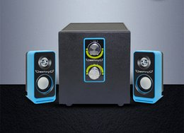 High-fidelity Multimedia High Efficiency Low Distortion Laptop Computer Speaker Support AUX Input 2.1