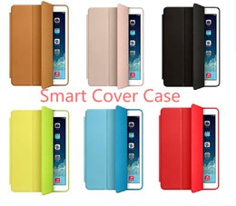 Wholesale smart cover case for IPAD AIR AIR2 PRO factory supplier customized flip leather case for ipad with Intelligent sleep