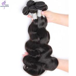 Teñidos haces de pelo de malasia en Línea-Los productos de pelo modernos de la demostración víspera virginal malasia del cuerpo del pelo 3 paquetes que el pelo natural sin procesar weave el color natural 1b se puede teñir y blanquear