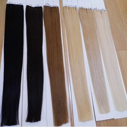 Wholesale 16 inches Tape In Hair Straight Indian Skin Weft Hair pieces Long Hair Extensions On Tape Colors Best Selling