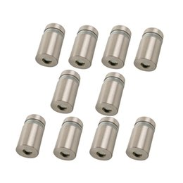 Wholesale 4pcs Base mm Dia Stainless Steel Advertisement Nails Barrel Screws Glass Standoff Pinsarrel Screws Silver Tone Glass Standoff Pins