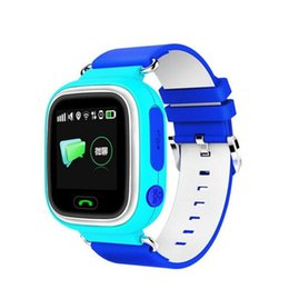 Wholesale Xmas Gift Q90 Kids SmartWatches GPS Tracker Touch Screen SOS Call Anti Lost baby digital smart watch for IOS Android PK Q50