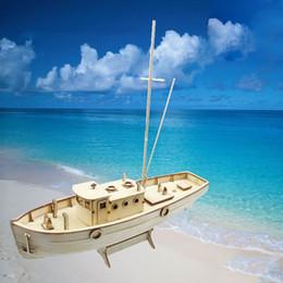Venta al por mayor- NXOS madera barco de pesca modelo de montaje kits 1/30 proceso de corte láser disfrutar de la diversión de la pesca fishing process for sale desde proceso de pesca proveedores