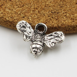 5pce 15*20mm Wholesale Antique Silver Little bee Charms Beads pendants for Jewelry Making DIY Handmade Bracelet Earring