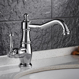 Wholesale And Retail Long Spout Bathroom Sink Faucets With Brass Chrome Single Handle Hole Bathroom Taps HS326