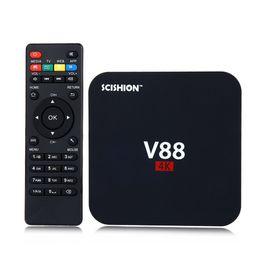 Wholesale Quad core Rockchip RK3229 Android V88 K Boxes Android OTT TV Box Media Player support Kodi Wifi HDMI Beat mxq android tv box