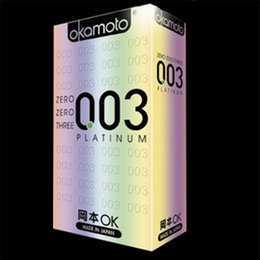 Wholesale pc The New Hardcover Version Okamoto Platinum Okamoto Slim Condoms Adult Supplies Japanese for Sex Natural Rubber Condom