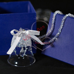 Wholesale crystal Christmas Bell Ornament Made With Swarovski Elements Crystal Car Decoration