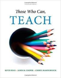 2017 Those Who Can, Teach ISBN-13: 978-1305077690