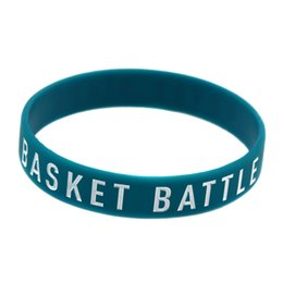 100PCS Lot Basket Battle Never Stops Silicone Wristband It is Soft And Flexible Great For Normal Day To Day Wear