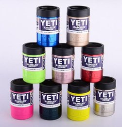 Wholesale 12 oz Multi colors oz YETI Stainless Steel Colster can Yeti Coolers Rambler Colster YETI Cars Beer Mug Insulated Koozie oz Cups Free DHL