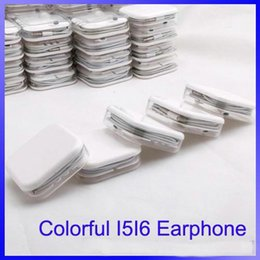Wholesale IP G earphones headset with volume control and microphone in a acrylic case A quality in strong bass use for IOS mobile phone OM F8