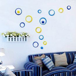 3DPVC circle stickers Fashion simple heart-shaped Wall Stickers Circle three-dimensional wall stickers