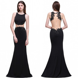 Only $59 In Stock Black Prom Dresses Real Pictures 2017 Mermaid Sheer Backless Beaded Long Party Evening Occasion Gowns Free Shipping