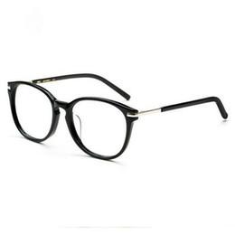 Star models retro myopia glasses frame female models large frame plate plain glasses men and women black box full frame W5175