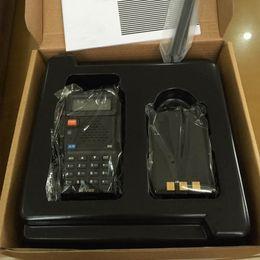 Wholesale Baofeng UV R Walkie Talkie Portable Analog Two Way Radio Handheld Intercom UHF VHF Amateur Long Range Transceiver