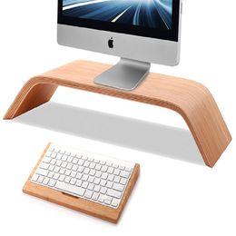 2016 New Walnut Real Wood Stand Desktop Holder Bracket Birch for iMac Original SAMDI Holder for PC Monitor