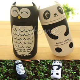 Vente en gros- mignon panda Owl thermos 220ml en acier inoxydable Vacuum Cup lumière et portable enfants bouteille d'eau Livraison gratuite à partir de bouteilles d'eau gratuits pour les enfants fabricateur
