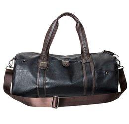 Sac de sport en cuir PU de grande capacité pour hommes à partir de sacs polochons marron fabricateur
