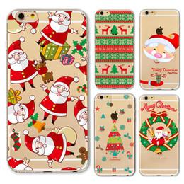 Купить Онлайн Цветковые деревья-iphone 7 Рождество дела Xmas снеговика Отец елки дело Цветы Морозы маленький помощник Обложка для Iphone 7 плюс 6 секунд плюс 5 секунд как таковые