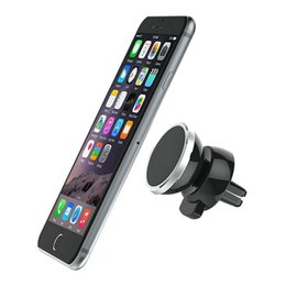 Car Mount Air Vent Magnetic Universal Phone Holder for iPhone 7 Plus One Step Mounting Reinforced Magnet Easier Safer Driving Free Shipping