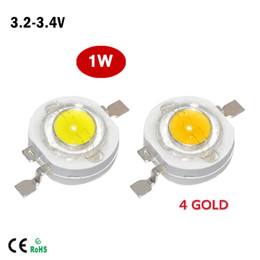 Wholesale 100Pcs Full Watt W High Power LED lamp LM LEDs Bulb light Emitting Diodes SMD Chip White for W W Spotlight