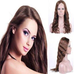 Wholesale Body Wave Natural Wave Full Lace wigs Natural Color Free Part Wave Human Hair Wig Lace Front Wig Brazilian Hair Free Shipping