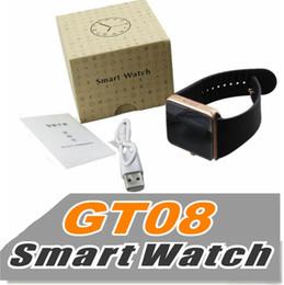 Moniteur de sommeil podomètre à vendre-GT08 Smart Watch compatible plate-forme Android avec podomètre caméra de surveillance de sommeil rappel sédentaire DHL Free SB-GT08