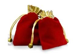 Precio directo de fábrica Red Velvet Drawstring bolsa de bolsa Bolsa de joyería de Navidad Bolsa de regalo de boda Bolsa de Navidad red direct bags deals desde bolsas rojas directas proveedores