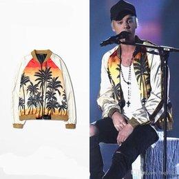 Wholesale Justin Bieber Printing Bench Long Sleeve Jacket Street Hip Hop Kanye Patchwork Jacket
