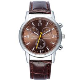 Luxury Geneva Business mens watches 3 eyes 6 needles unisex quartz geneva watch for mens adult student boy sports wrist watches gift best