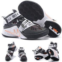 Vente en gros Hot Air LeBron Zoom Soldier 10 James Limited 810803-015 Chaussures Blacketball Noir Quai 54 noir 40-46 EUR à partir de soldats lebron noir fabricateur