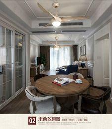 American dining room living room indoor fan light pendant modern pendant fan light LED lighting fan with remote control 52inch