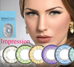 Wholesale With case in Super Performance Natural color Impression color contact lense Branclear contact lenses